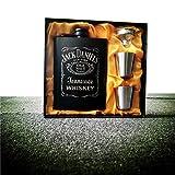 SZIYV 8 oz Petaca Set Inoxidable, de Bolsillo Portable Frasco de la garrafa del Whisky del pote del Vino de la Botella Cubierta de Cuero con Embudo de Viaje y de la Bebida Ware Taza del Vino