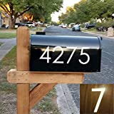 Diggoo Reflective Mailbox Numbers Sticker Decal Die Cut Classic Style Vinyl Number 2' Self Adhesive 4 Sets for...
