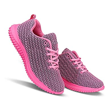 Camfoot Stlyish-5037 Pink Sports Running Shoes for Women