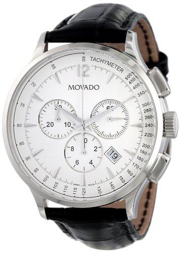 Movado 606575 - Reloj de pulsera hombre, piel, color negro