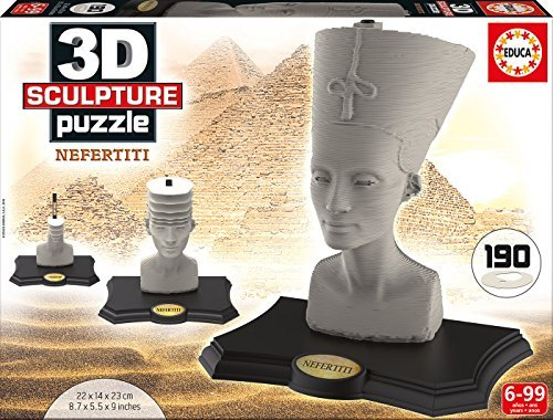 Educa Borr?s?-?16966.0?-?3D Sculpture Puzzle?-?N?fertiti?-?190?Pieces by Educa