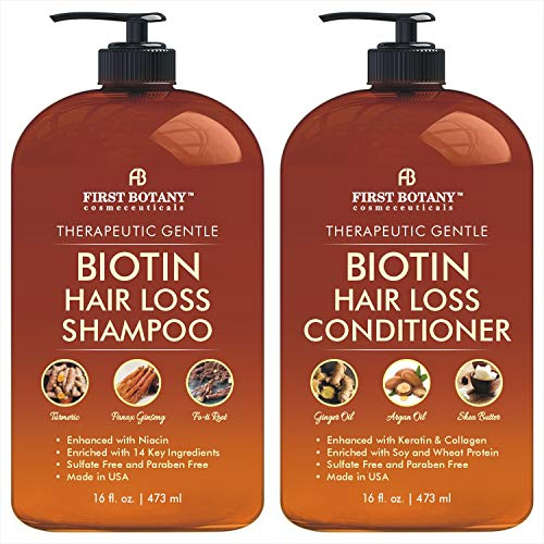 Hair Growth Shampoo Conditioner Set - An Anti Hair Loss Shampoo and Conditioner with 14 DHT blockers to fight Hair Loss For Men and Women , All Hair types, Sulfate Free - 2 x 16 fl oz