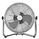 Cecotec Ventilador Industrial EnergySilence 4500 GyroPro, Óptima Potencia, 110 W, Oscilación Automática, 3 velocidades, Motor de Cobre, Ajustable, Plata
