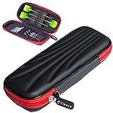 ダーツケース ダーツ 収納 ケース ブラック マイダーツ シャフト ダーツカードが全部入る 大容量