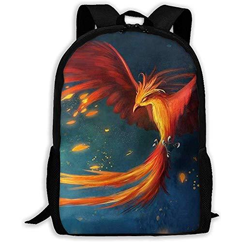 Mochila De Estudiante,Mochila Informal para Laptop,Bolsa Funcional,Hombres Mujeres,Mochila Informal Oxford,Amazing Fantasy Phoenix Bird Outdoor Travel Dayback,Mochila De Estudiante