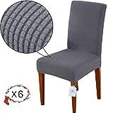 LUOLLOVE Housses de chaises, Extensible Amovible Lavable Housse de Chaise de Salle a Manger,Housse...