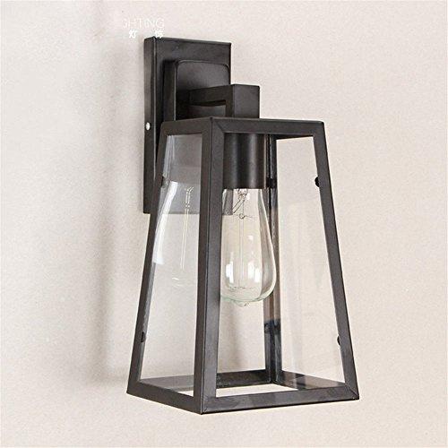 JJZHG Wandlamp, waterdicht, wandverlichting, buitenwandlamp, hal, trap, balkon, creatieve wandlamp, glazen kast, wandlamp omvat: wandlamp, stoere wandlampen