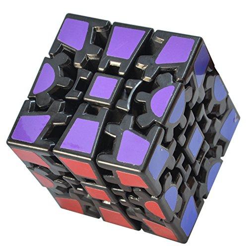 TOYESS Cubo Mágico,3D Puzzle Gear Cube 3x3x3 Rompecabezas Cubo de Velocidad Regalo de Adulto para Niños,Negro