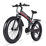 KELKART Bicicleta de Montaña Eléctrica de 26 Pulgadas, Plegable, con Neumático Grueso, con Motor...