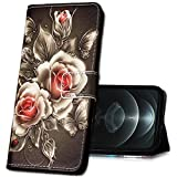 MRSTER Funda Billetera para Xiaomi Redmi Note 8 Pro, Carcasa Libro con Tapa Flip Case Protectora Cartera PU Cuero Carcasa Cover para Xiaomi Redmi Note 8 Pro Smartphone. YI Shiny Rose