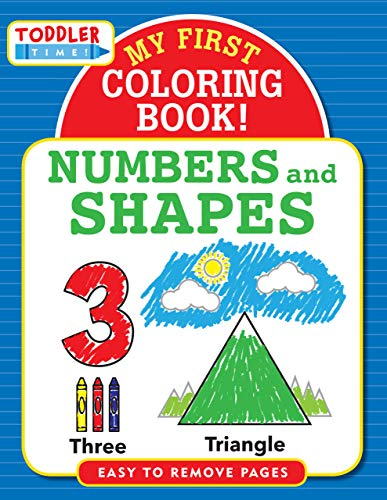 Toddler Time! My First Colouring Book - Numbers & Shapes