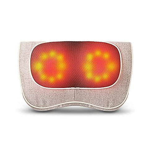 Rrooty Haushalt Multifunktionale Cervical-Massage-Kissen, elektrisches Knet-Massagegerät for Nacken, Bein, Taille, Hals und Schulter