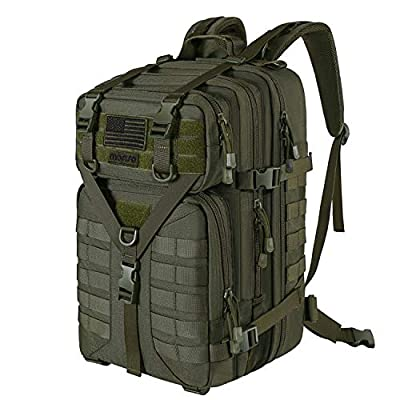 MOSISO 50L Tactical Backpack, Large Men 3 Day Assault Rucksack Military Daypack,Army Green