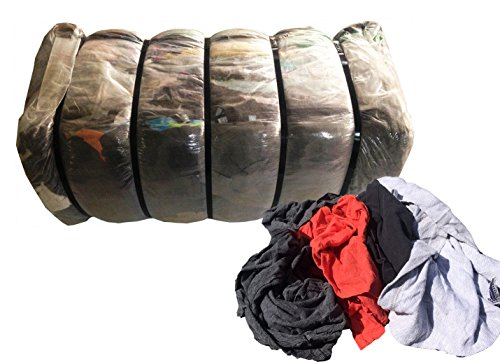 100 Lb Shop Rags - Also Called Cotton Nylon Rags, Cleaning Towels, Wiping Cloths, Cloth Rags, Recycled Rags, Tshirt Cloth Rags