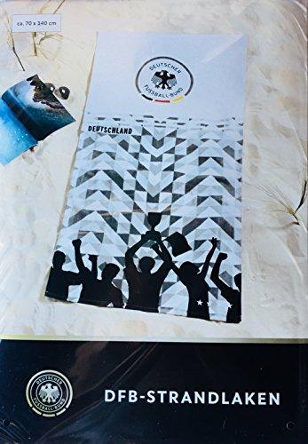 DFB Offizielles Strandlaken Fußball Weltmeisterschaft 2018 Deutschland Germany Fanartikel Geschenk WM/EM Pokal Badetuch Handtuch Strandtuch