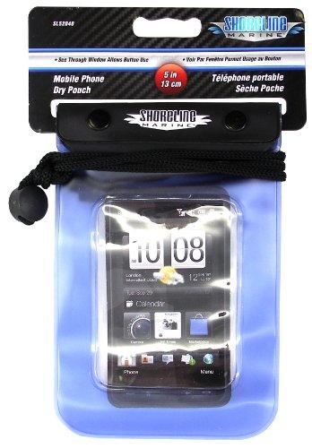 Shoreline Marine Waterproof Phone/Camera Dry Pouch, 4 2/5u0022 x 6 2/5u0022, Clear/Blue