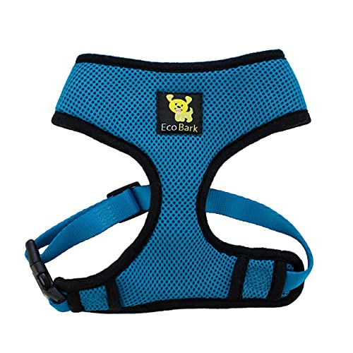 Classic Dog Harness Innovative Mesh No Pull No Choke Design Soft Double Padded Breathable Vest for Eco-Friendly Easy Control Walking Quick Release for Puppies Toy Breeds & Small Dogs (Teal, Med)
