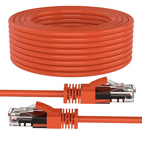 Cat 6 Ethernet Cable, 300ft (91.4 Meters) Maximm Cat6 Cables Orange - Snagless Internet Cable Pure Copper Computer Network Patch Cord UL Listed, 24AWG - Includes Cable Ties.