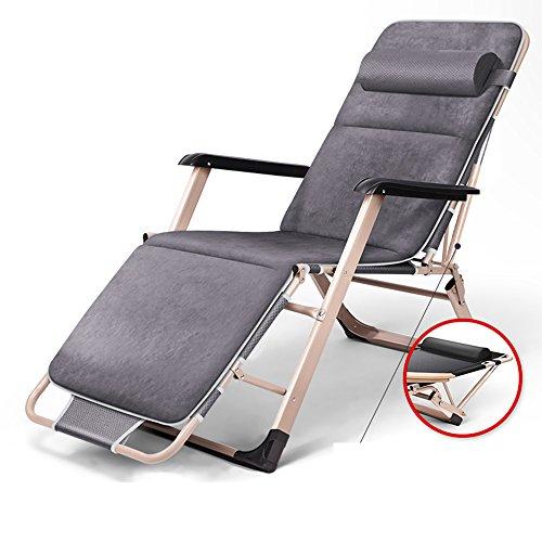 Cylficl Chaise pliante Déjeuner Repos Lit arrière Dos Lazy Leisure Beach Home Chaise multifonction (Color : C)