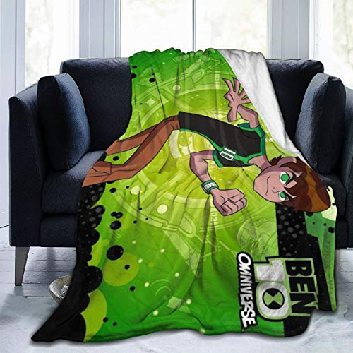 "B-En 10 Ultra Soft Flannel Fleece Throw Blanket Light Weight Warm Blanket Bed Couch Living Room 60"""" x50"