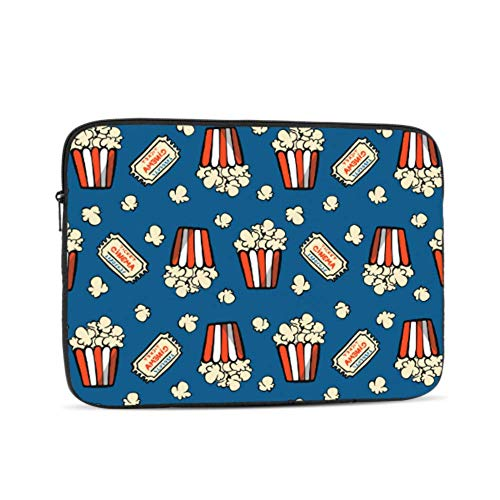 Collection of Popcorn Hand Drawn Pattern 10' Inch Laptop Sleeve Case Bag Compatible with Apple MacBook Air Pro Dell Lenovo Samsung Asus Computer Tablet Or Ipad
