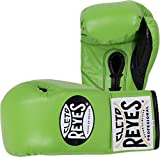 Cleto Reyes Professional Fight Gloves - Official/Safetec (Citrus Green (Official Boxing Gloves), 10-Ounce)