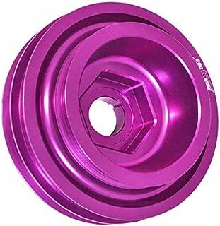 AJP Distributors Aluminum Light Weight Under Crankshaft Crank Shaft Drive Harmonic Balancer Pulley High Performance Racing JDM For B-Series B16 B18 B20 DOHC VTEC (Purple)