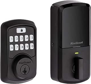 Kwikset 99420-003 Aura Bluetooth Programmable Keypad Door Lock Deadbolt Featuring SmartKey Security, Iron Black