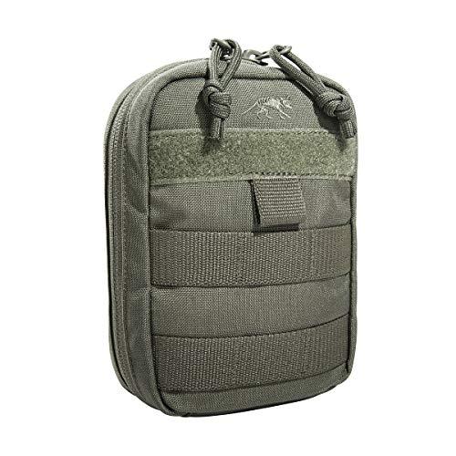 Tasmanian Tiger TT Tac Pouch 1 Vertical Tasche EDC Rucksack-Zusatztasche mit Molle-System und Patch-Fläche, Steingrau-Oliv IRR, 15 x 10 x 4 cm
