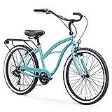 sixthreezero Around The Block Women's 7-Speed Beach Cruiser Bicycle, 24' Wheels, Teal Blue...
