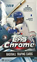 2019 Topps Chrome MLB Baseball HOBBY box (24 pks/bx, TWO Autograph cards)