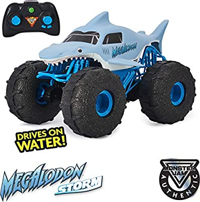Monster Jam, Official Megalodon Storm All-Terrain Remote Control Monster Truck Toy Vehicle, 1:15 Scale from Spin Master