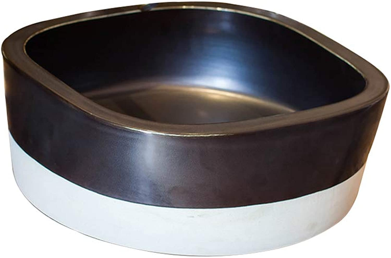 Countertop Art Basin, Household Bathroom Washbasin - Round Ceramic Container Sink - 41x15cm