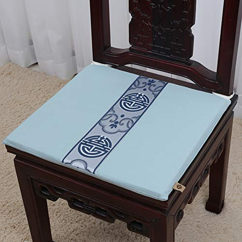 KE & LE Chino mahonie stoelkussen, hoge kwaliteit, eenvoudige sofadeken, kussen, roterend zitkussen, dik, antislip, stoelbekleding