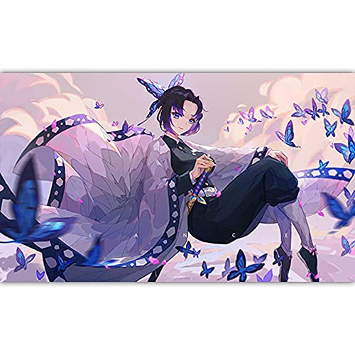 H/A Janpenses - Póster De Anime Demon Slayer, Arte De Pared E Impresiones En Lienzo HD para Niños, Dormitorio, Sala De Estar, Sofá, Decoración del Hogar B343 50X70Cm