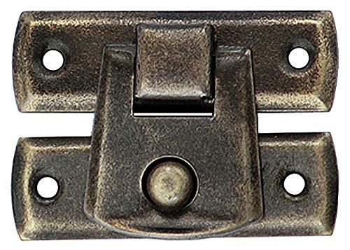 10 Schnappschloß Schatullen Schatullenverschluss Etui-Verschluss Alt Messing