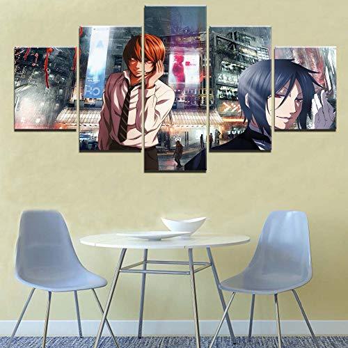 Uhgkt Canvas Schilderijen Moder Schilderij 5 Stukken Dood Karakter Foto O Canvas ns Urba Landschap Print Animatio Poster