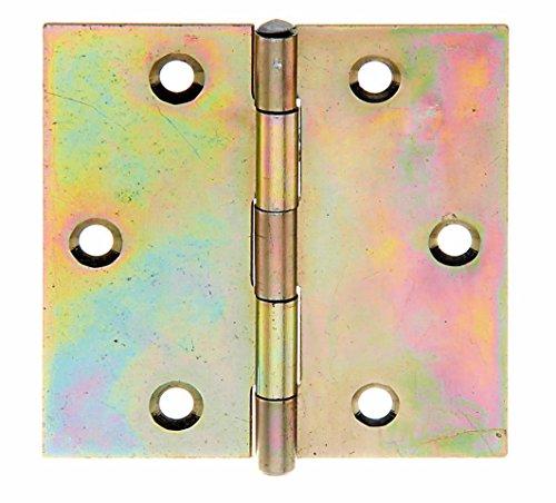 GAH-Alberts 345990 Scharnier, quadratisch, galvanisch gelb verzinkt, 64 x 64 mm / 20 Stück