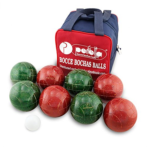 Perfetta Club Pro Bocce Ball Set 107mm Made in Italy Fleck Color