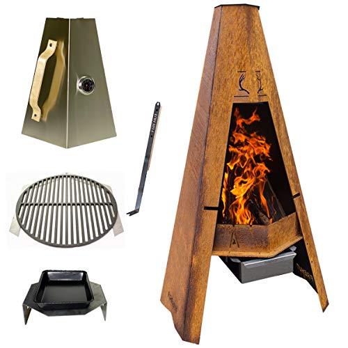 FIREHUT Tuingrill, barbecue & vuurplaats | 3/6mm dik cortenstaal