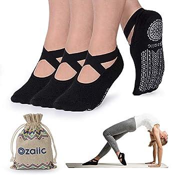 Non Slip Yoga Socks for Pilates Barre Ballet Dance Anti Skid Hospital Slipper Delivery Socks with Grips for Women