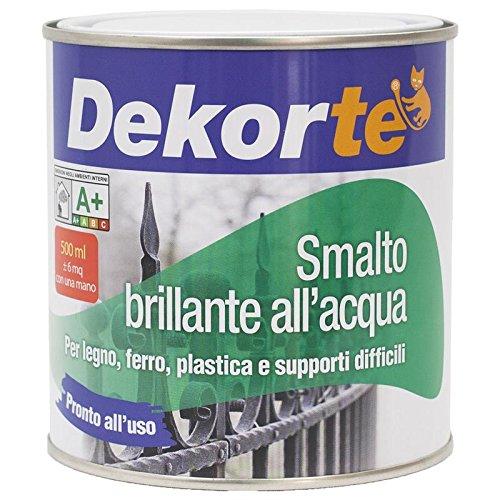 GDM Smalto all'Acqua Lucido, Dekortè (500 ml, Bianco Perla Ral 1013)
