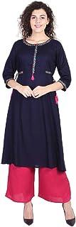 سترة نسائية من Vihaan Impex هندية طويلة من الرايون على شكل حرف A فستان للنساء