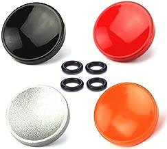 LXH 4 Pcs Pack Metal Concave Surface Soft Shutter Release Button for Fujifilm XT20 X100F X-T2 X100T X-PRO2 X-T10 X-PRO1 X-E2S X100 X100S X10 X20 X30 X-E1 /2 Nikon Leica (Red+Black+Silver+Orange)