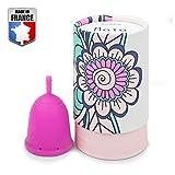 DoctiCup - Coupe Menstruelle - Made in France - Silicone Médical Hypoallergénique - - Cup menstruelle - Cup Avec Pochette De Rangement (Taille S : Maïa)