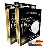 20 uds Mascarillas FFP2 Blancas homologadas y fabricadas en España CE 2797, filtrado de 5 capas - GrupoZona - Mascarilla ffp2 españolas