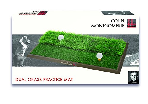 Colin Montgomerie Dual Sided Golf Practice Mat