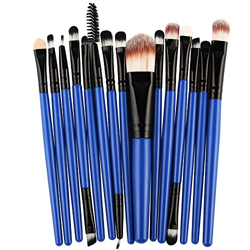 Kit de maquillage pour outils de maquillage Pro Makeup Poudre de fard à paupières pour le fard à paupières Eyeliner (15 pcs) Brosse à maquillage XXYHYQ