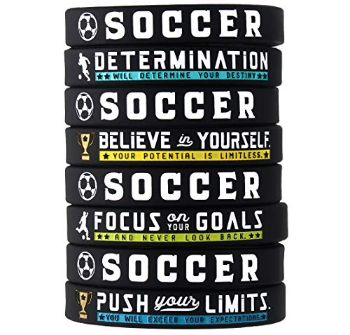 Inkstone Soccer Bracelets with Motivational Sports Quotes Silicone...