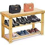 Camabel Estantería para Zapatos de Bambú 3 Niveles 70 x 30 x 43 cm Carga...